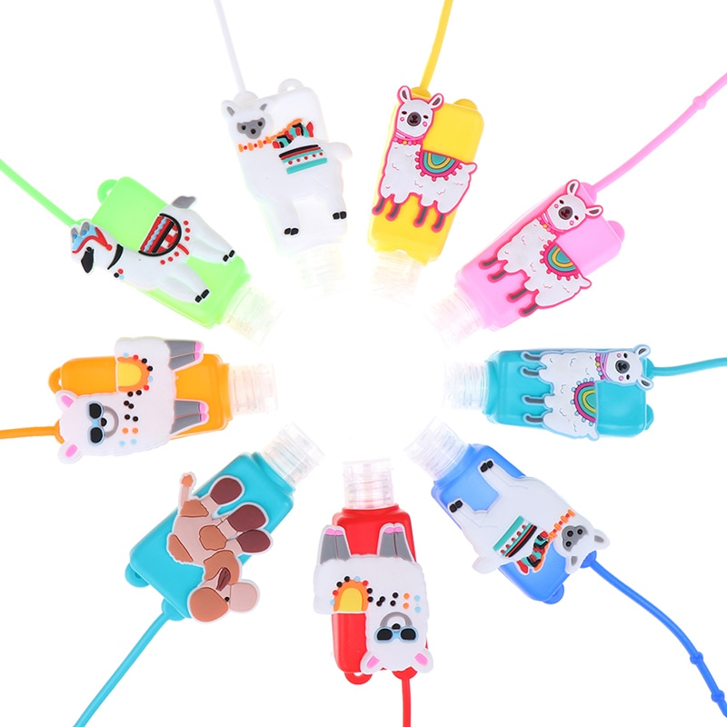 30ML Cartoon Hand Sanitizer Bottle Empty Detachable Cover Travel Portable Holder