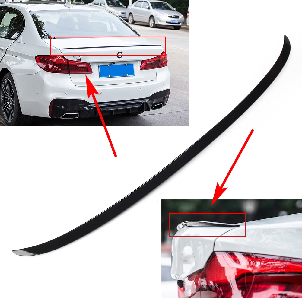 Задний спойлер для багажника автомобиля M5 Style Cover для BMW 5 Series G30 Saloon 520i 530i 540i M5 2017 2018 2019 глянцевый черный ABS
