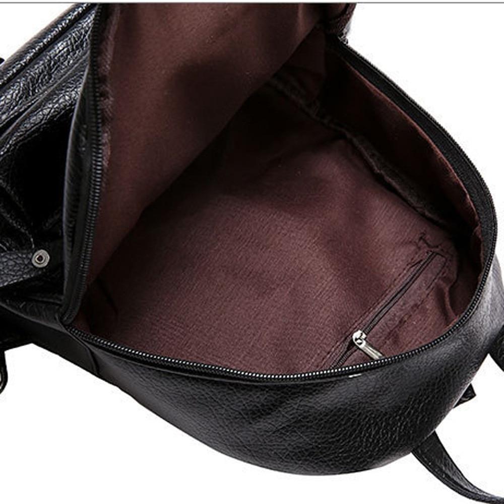 Ransel wanita PU kulit beg sandang perjalanan beg sandang gadis - Beg galas - Foto 6