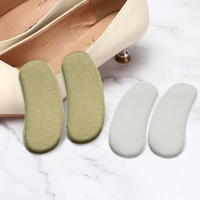 10pcs Elastic Heel Liner Sticky Sponge Inserts Silicone Heel Protector Pad Cushions For Shoes Insert