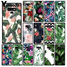 Yinuoda plante Verte feuilles Fleur Téléphone étui pour samsung Galaxy Note7 8 9 5 10 Pro A50 J5 J6 Premier J7