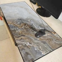 creative black gray marble texture custom diy xxl large mouse pad latop keyboard soft table protection pad gaming mouse pad