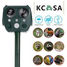 KCASA jardin extérieur solaire ultrasons répulsif pour animaux étanche répulsif antiparasitaire serpent chat chien oiseau Dispeller garder les animaux loin
