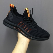 Fashion Men Sneakers Mesh Casual Shoes Lac-up Mens Shoes Lightweight Vulcanize Shoes Walking Sneaker