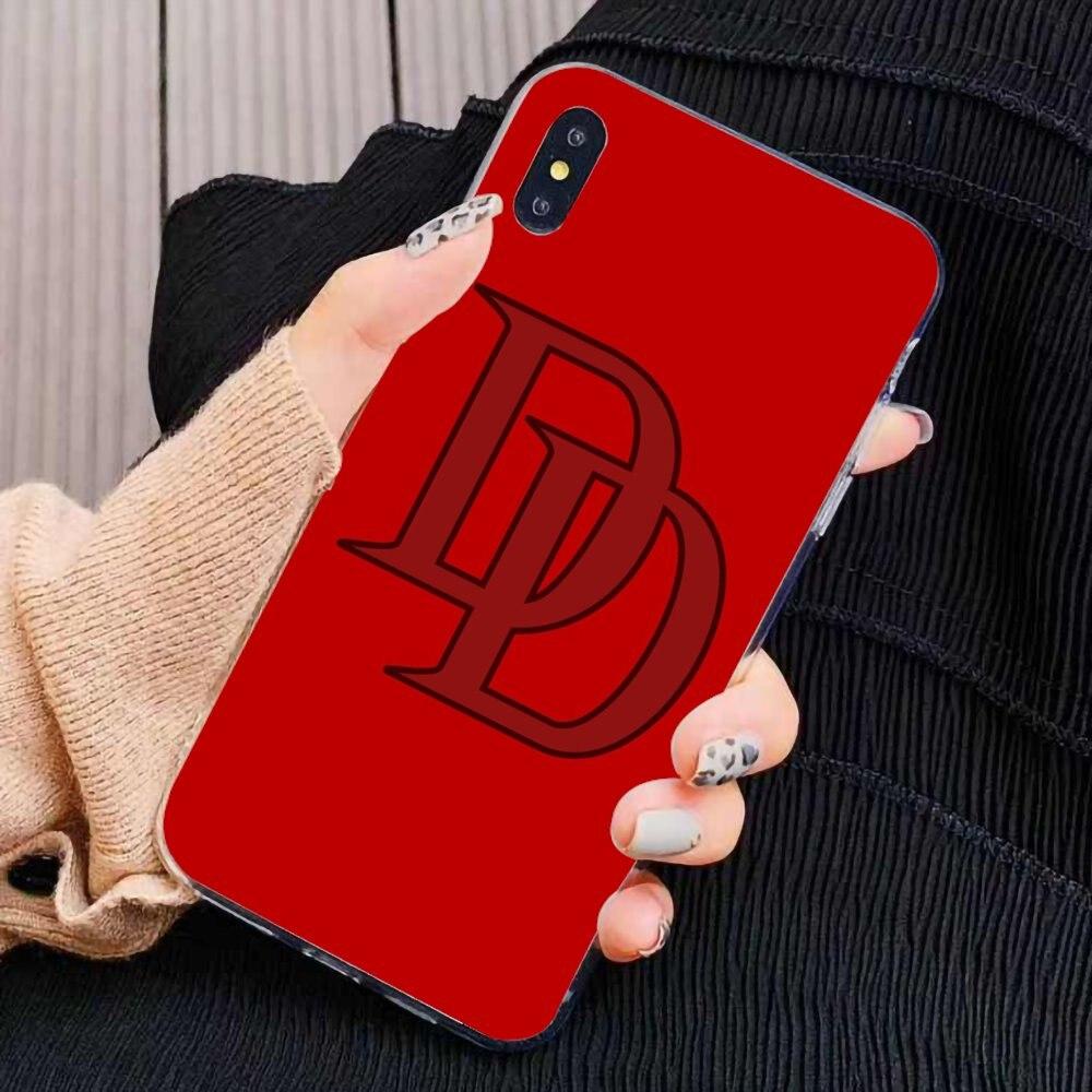 Soft Shell Cover For BQ BQS S 5059 5035 6040L For HTC U11 U12 Plus For LG K10 K8 K7 K4 2017 Marvel SuperHero Daredevil logo