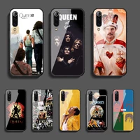 queen band phone tempered glass case cover for xiaomi mi note a2 a3 8 9 3 9 9t 10 max pro lite ultra luxury trend bumper