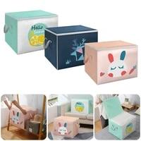 underbed clothes wardrobe storage bags foldable fabric storage box with lid handles cube closet organizer home storage organizer