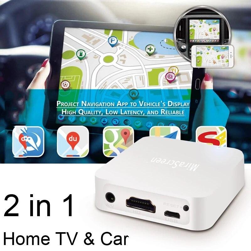 Mirascreen X7 Car Auto Media DLNA Airplay Screen Mirror Dongle TV Stick Wireless Wifi AV HDMI-compat