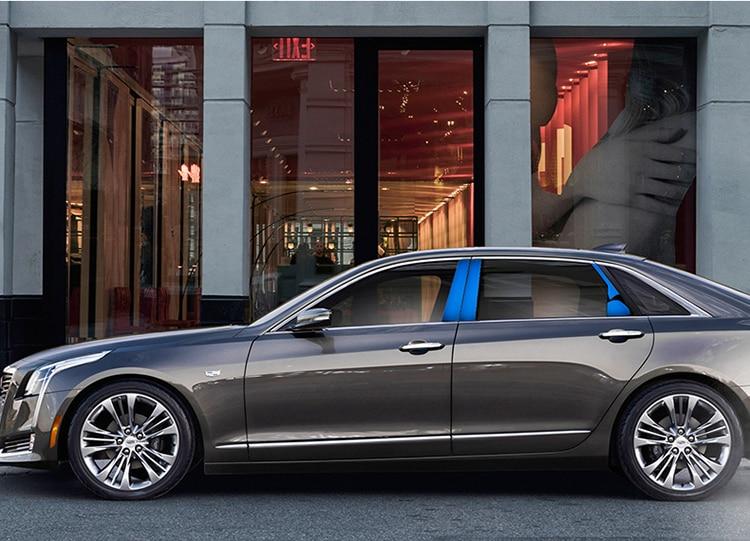 Protector de acero inoxidable ventana brillante medio Pilar decorado cubierta para Cadillac CT6 2016 17 18 2019 ACA211