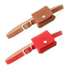 Fashion Vintage Waist Bags Belts For Women PU Leather Fanny Pack Waist Belt Bag Ladies Luxury Mini Shoulder Pouch Accessories