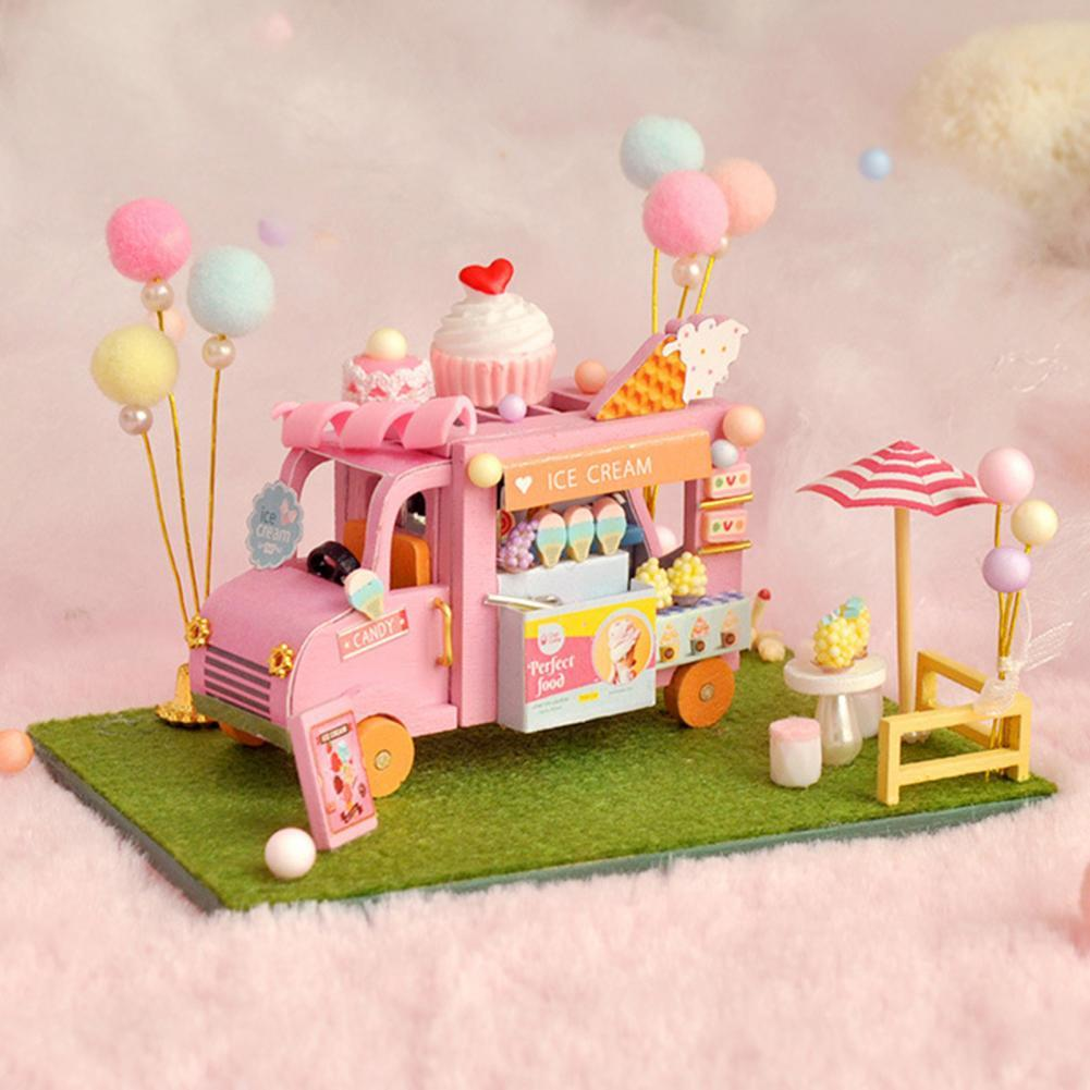 Восхитительный Автомобильный дом «сделай сам», прекрасная сборка вручную, Миниатюрный Кукольный дом «сделай сам» для развития интеллекта, ...