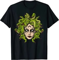 medusa greek goddess snakes ancient greece mythology gothic t shirt