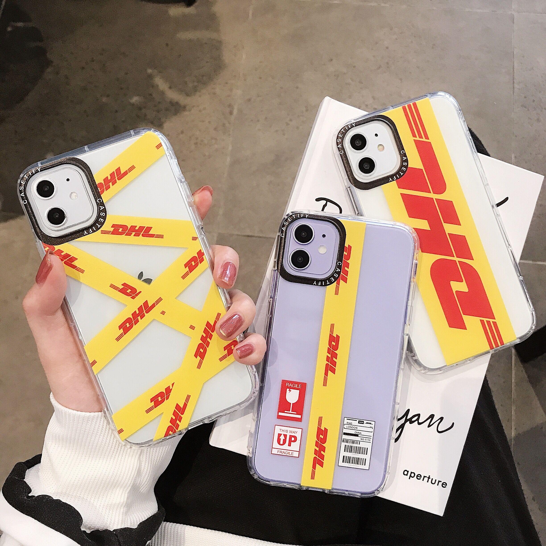 Genial DHL caliente Express 50th aniversario etiqueta caso para iPhone 11 11Pro X XS X MAX 7 8 plus de silicona suave cubierta coque