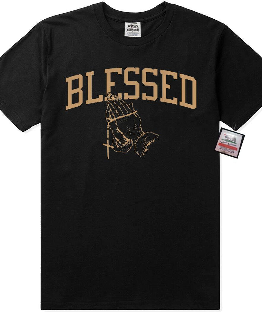 Pro 5 Blessed camiseta Drake 6 god Migo Rap ropa urbana ropa gruesa camiseta de moda para hombres