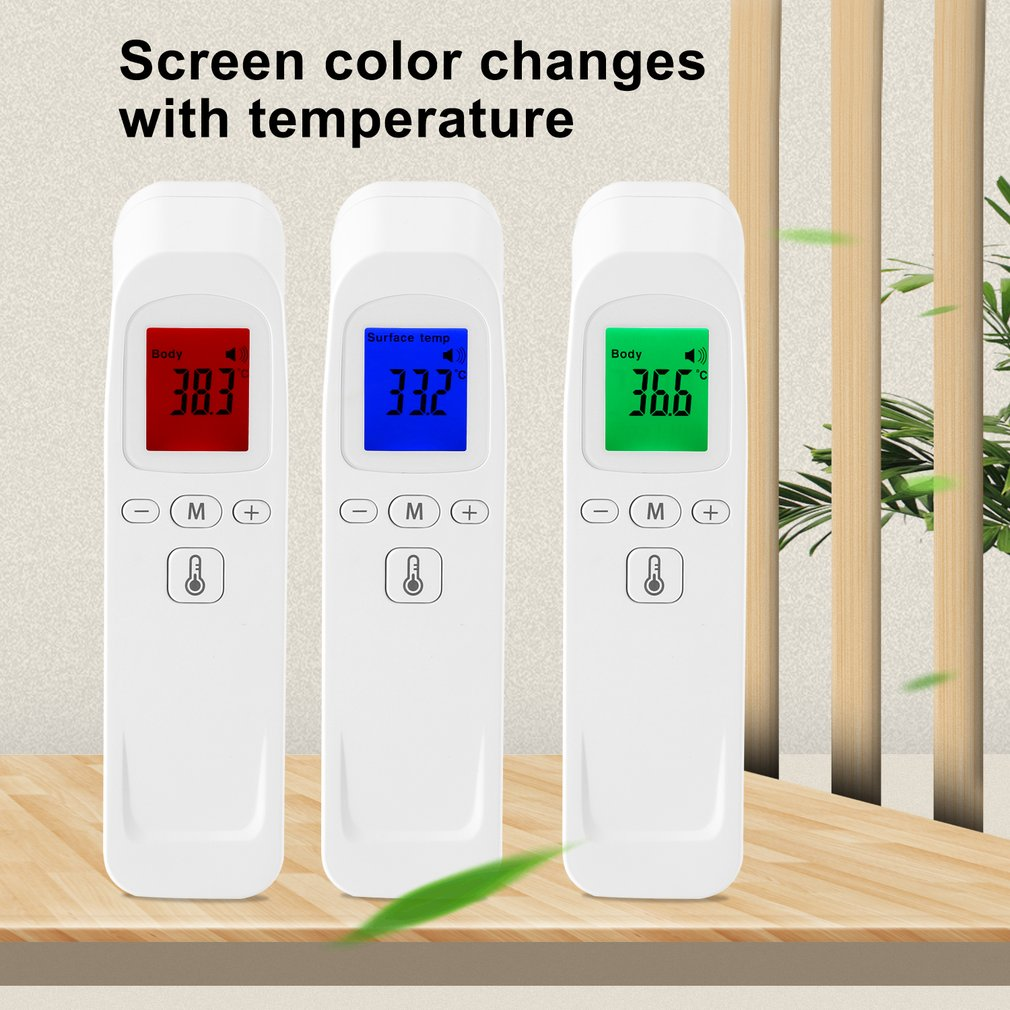 In Stock! Digital Infrared Forehead Thermometer LCD IR Non-contact Temperature Meter