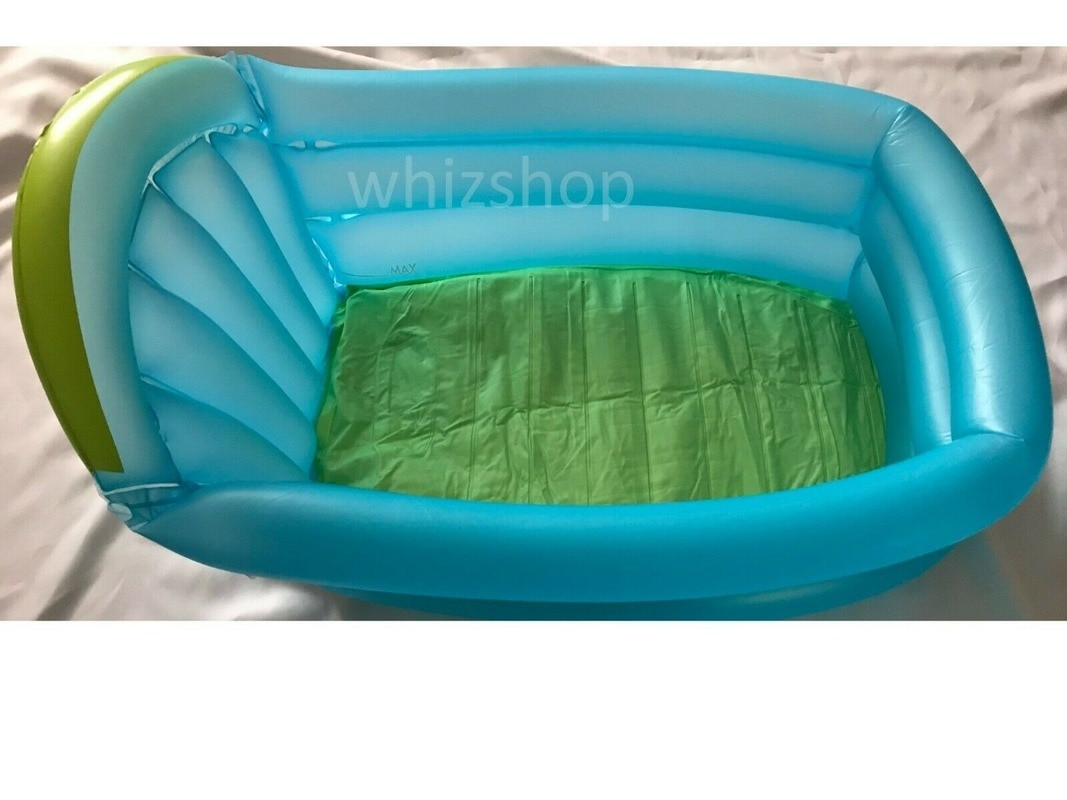 Baby Children's Inflatable Bathtub Travel Baby Wash Basin Blue Brand New Portable PVC Bath Tubs for Baby