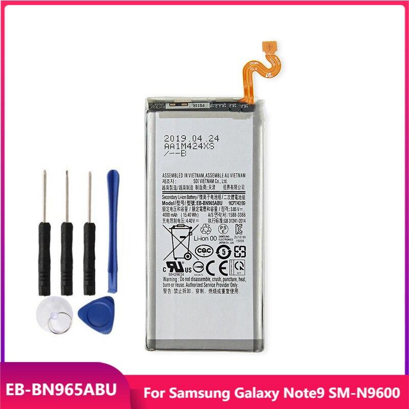 Оригинальная Аккумуляторная батарея для Samsung Galaxy Note9 Note 9 EB-BN965ABU, сменные аккумуляторные батареи 4000 мАч