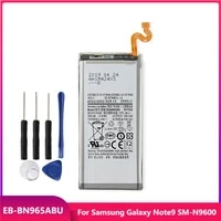 original phone battery eb bn965abu for samsung galaxy note9 note 9 sm n9600 replacement rechargable batteries 4000mah