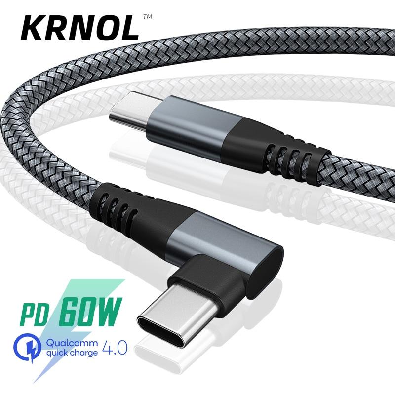 Cable de carga rápida de 60W, Cable USB Tipo C a USB...
