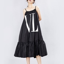 2020 nouvelle robe originale de luxe conception lâche lettre impression balançoire mode fronde robe