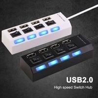 high speed multi usb hub 2 0 mini hub usb splitter 47 usb ports with onoff switch hab support power pc computer accessories