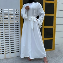 Caftan ouvert dubaï Abaya turquie Kimono Cardigan Islam musulman Hijab Robe Jilbab Abayas pour les femmes Robe Ete Caftan vêtements islamiques