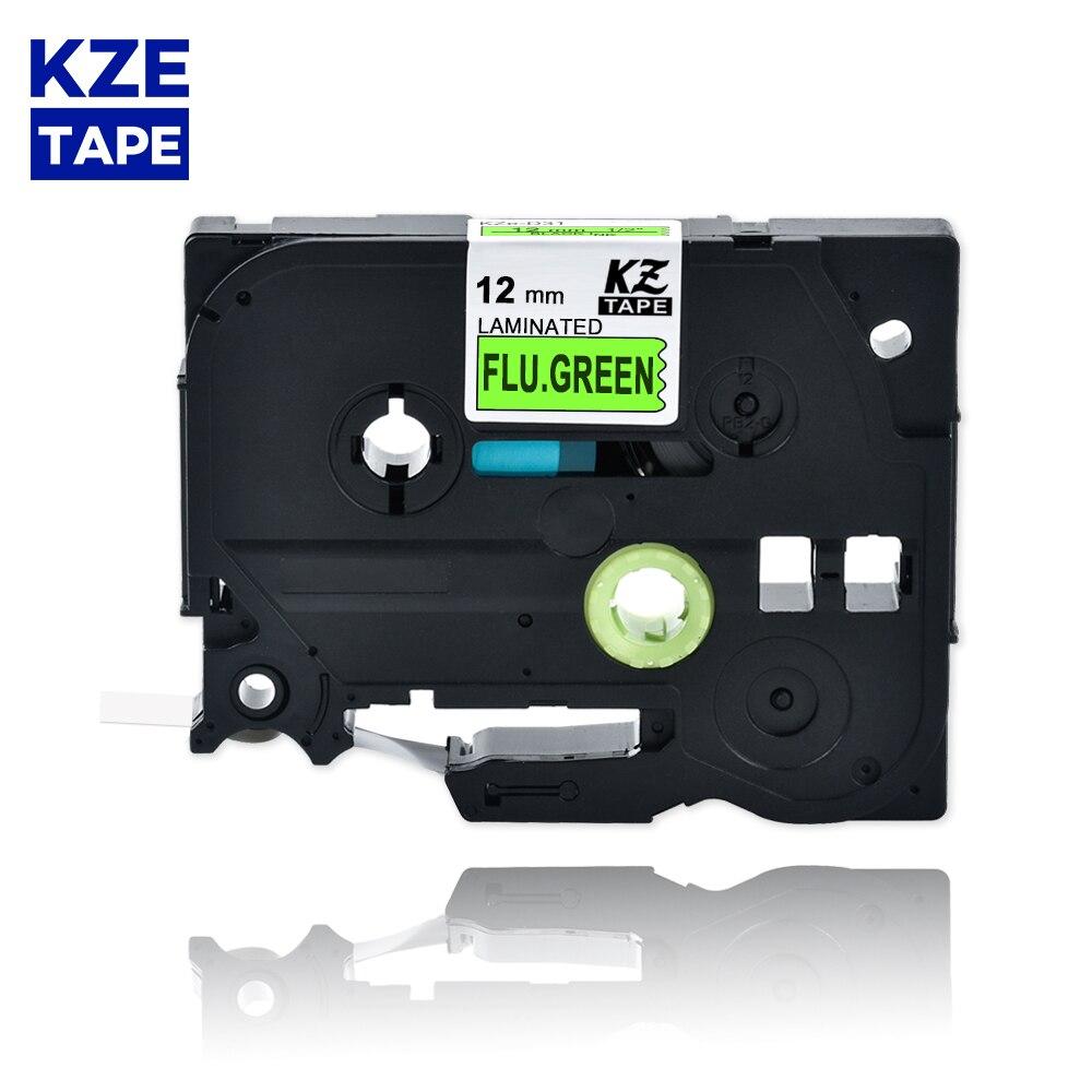 12mm TzeD31 negro sobre la gripe verde cinta para etiquetas laminada cartucho para casete etiqueta cinta Tze-D31 tze D31 tzeD31 para P-touch PT