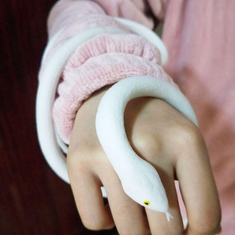 [Экологически безопасная мягкая резина] имитационная игрушка-змея, мягкая резиновая белая змея, страшная искусственная змея, имитация змеи,...