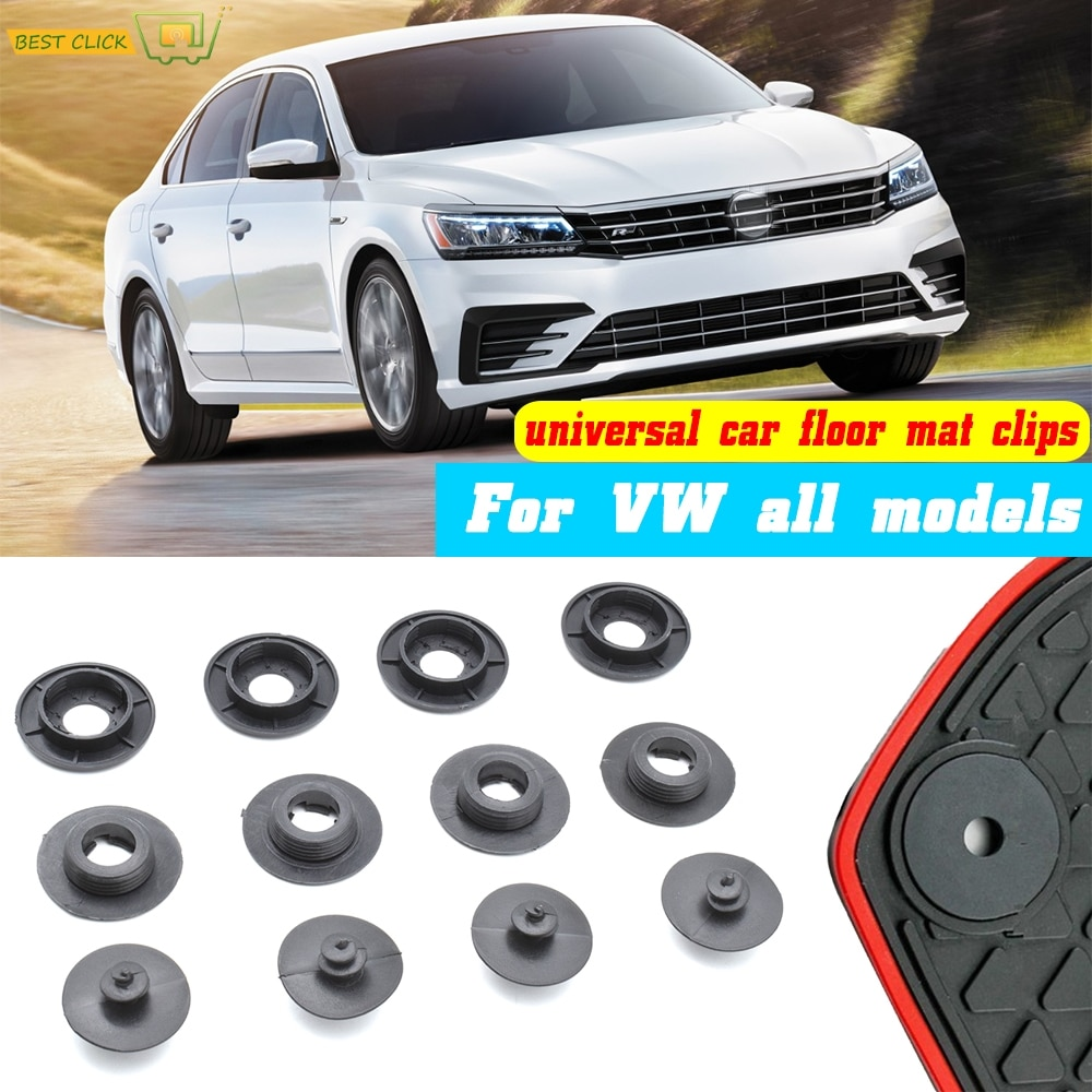 4pcs Car Floor Mat Clips For VW All Models Carpet Fixing Clamps Holders Fasteners Retainer Retention Anti Skid Buckles