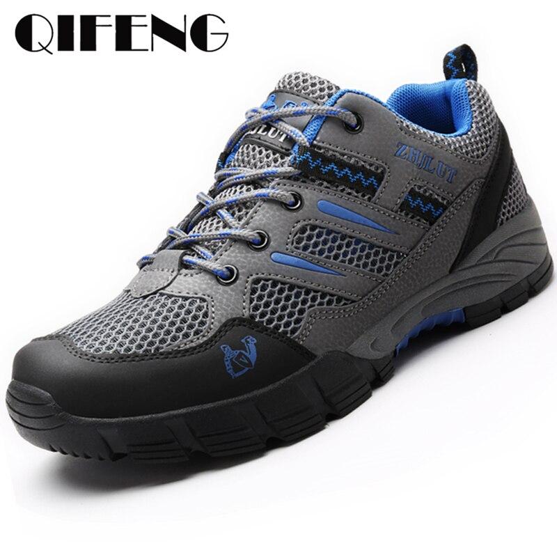 Zapatos informales de verano para hombre, Zapatillas de malla transpirable, zapatos para caminar de mujer, zapatos de Trekking, zapatos para correr para mujer, calzado de viaje para hombre