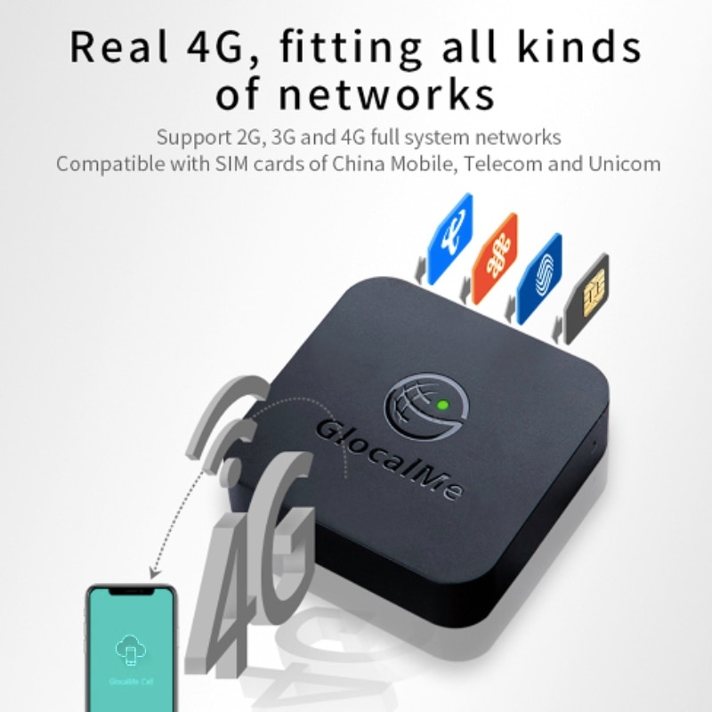 SIM-Router for iOS & Android , Multiple 4 SIM Dual Standby No Roaming 4Gsimbox,work with WiFi  Data to Make Call &SMS enlarge