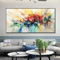 abstract art colorful pictures home decorative paintings canvas painting flower posters wall art pictures for living room decor