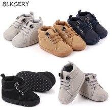 Brand Newborn Baby Boy Shoes Soft Sole Crib Shoes Warm Boots Anti-slip Sneaker Solid PU First Walker