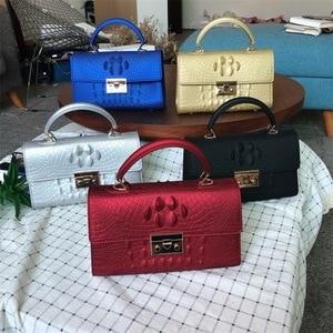 New Women Crocodile pattern Messenger Bags Luxury Handbags  Bags Designer Jelly Bag Fashion Shoulder Bag Females Handbag