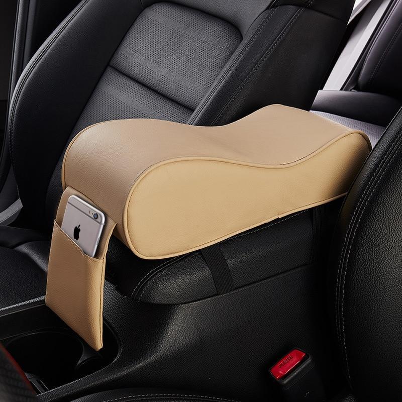 Кожаный Автомобильный Коврик для подлокотника, универсальный внутренний автомобильный подлокотник, контейнер для хранения, коврики, Пылен...