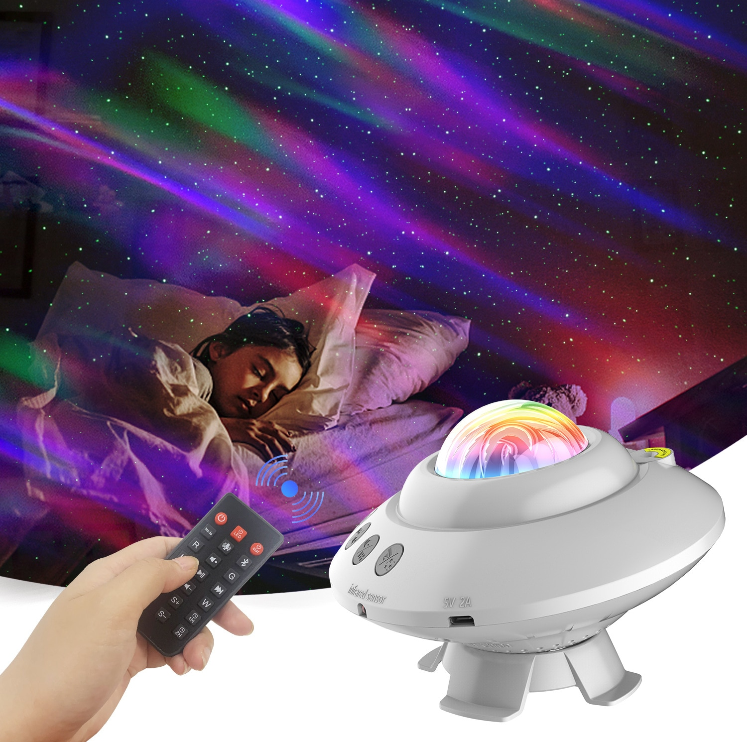 LED Star Sky Projector Atmosphere Lamp Northern Lights Night Light Decor Room Decoration Bedroom Lamp Gifts Sleep Projector Lamp