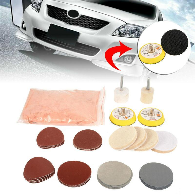 39pcs Car Polish Glass Windshield Polishing Kit Scratch Removal Auto Window Glass Polished Remover Repair Tool Cerium Oxide ossieao new watch glass polishing kit glass scratch removal set acrylic sapphire crystal
