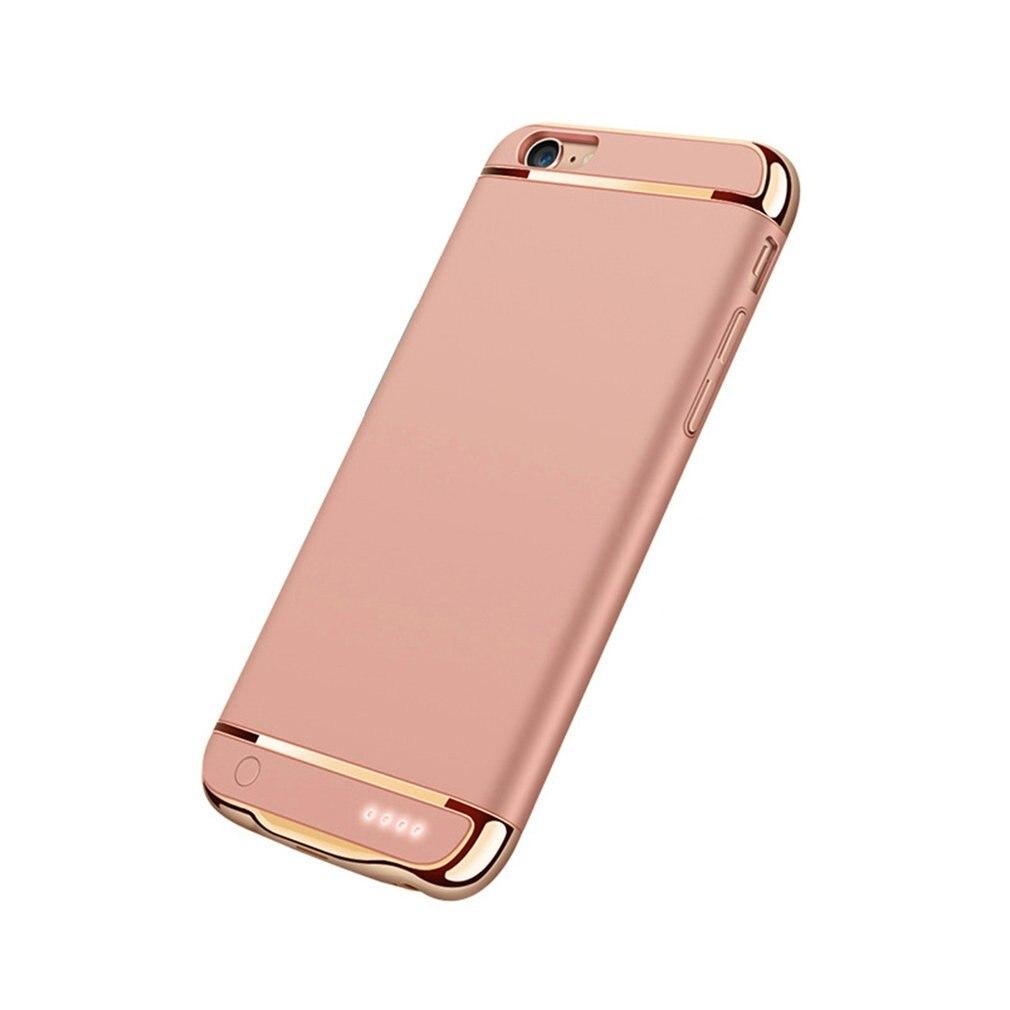 Funda cargadora de batería inalámbrica de Clip trasero para iPhone 6, 6S, 7/8, funda con función de soporte para teléfono móvil