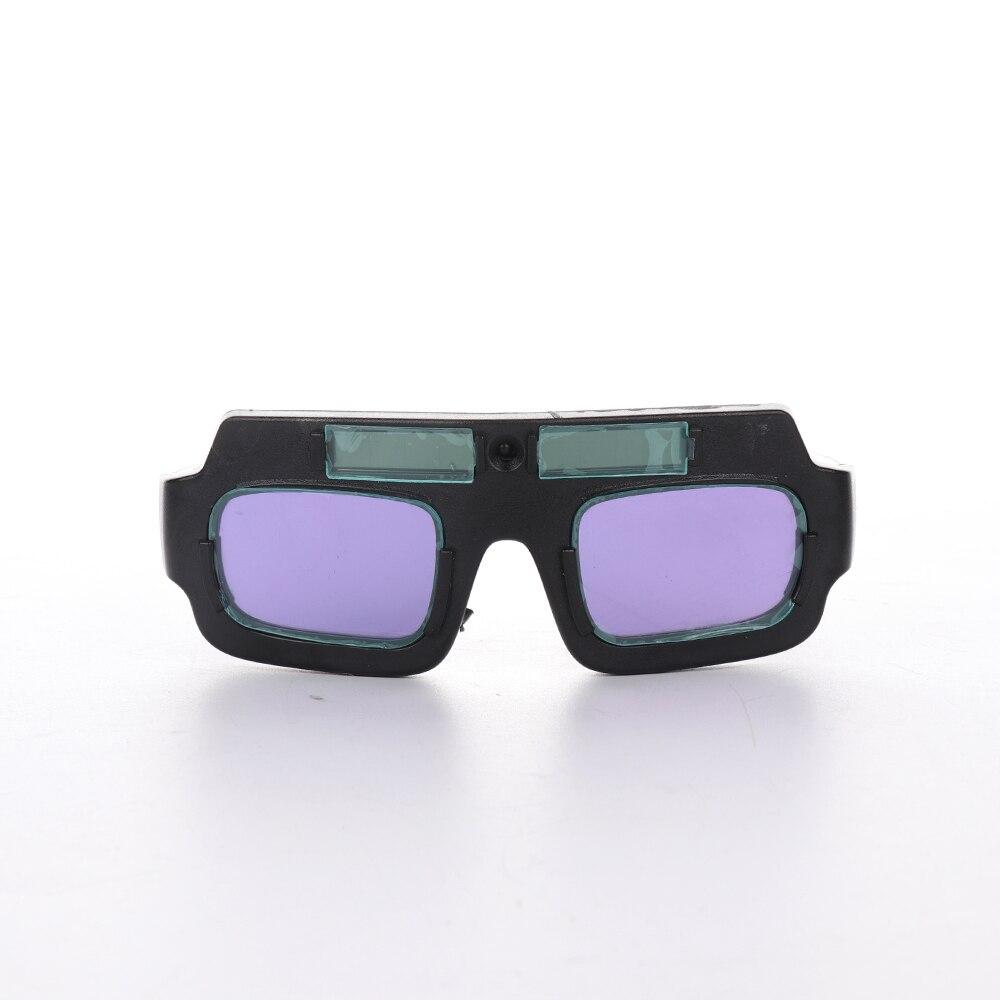 1 par de óculos de soldagem painel solar luz variável lcd lense escurecimento automático máscara capacete de soldagem segurança olho proteger soldagem vidro