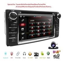 "6.2 ""auto DVD Player stereo Für Toyota Universal RAV4 COROLLA VIOS HILUX Terios Land Cruiser 100 PRADO 4RUNNER DVR mit karte karte"