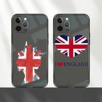 british flag phone case for iphone 12 11 8 7 mini pro x xs xr max plus black transparent cover