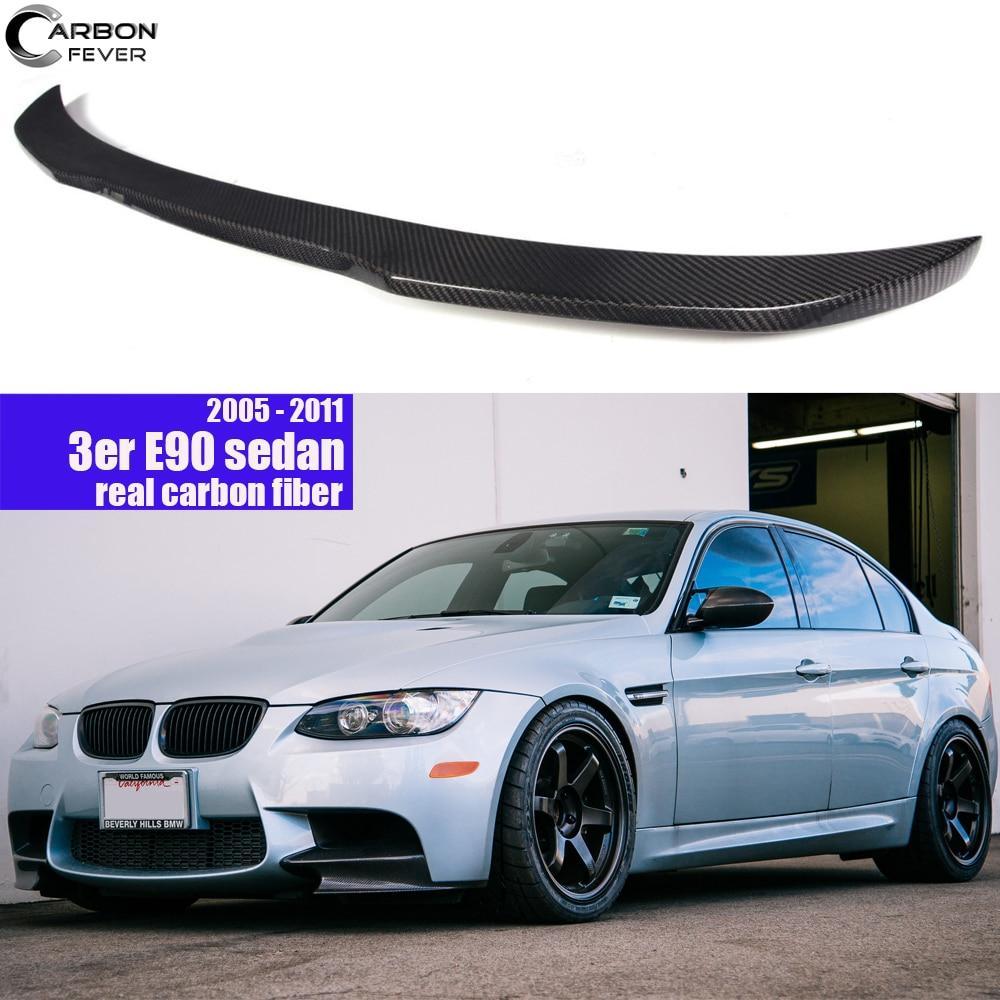For BMW E90 3 Series Sedan & M3 Carbon Fiber Rear Spoiler Car Wing