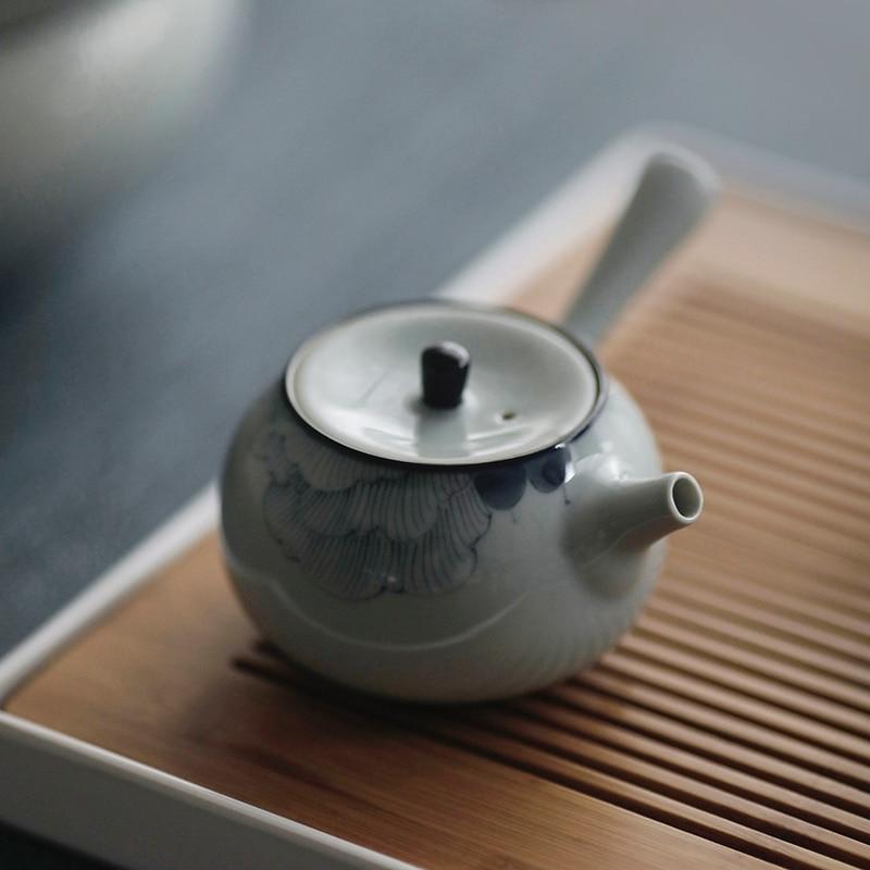 Teteras hechas a mano chinas de un solo Tetera de cerámica teteras...