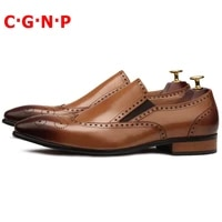 c%c2%b7g%c2%b7n%c2%b7p british style pointed toe carving genuine leather loafers luxury italian slip on men dress shoes handmade casual shoes