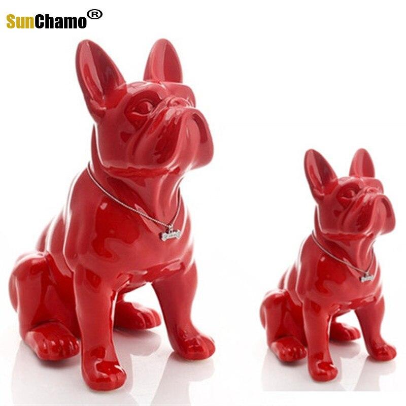 Crafts Home Decoration Ceramic French Bulldog Dog Decoration Opening Gift Pet Shop Model Interior Design Sample Room Soft Pack