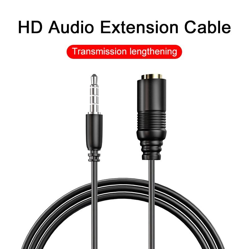 Cable de extensión macho a hembra de 0,75 m y 3,5mm, Adaptador...