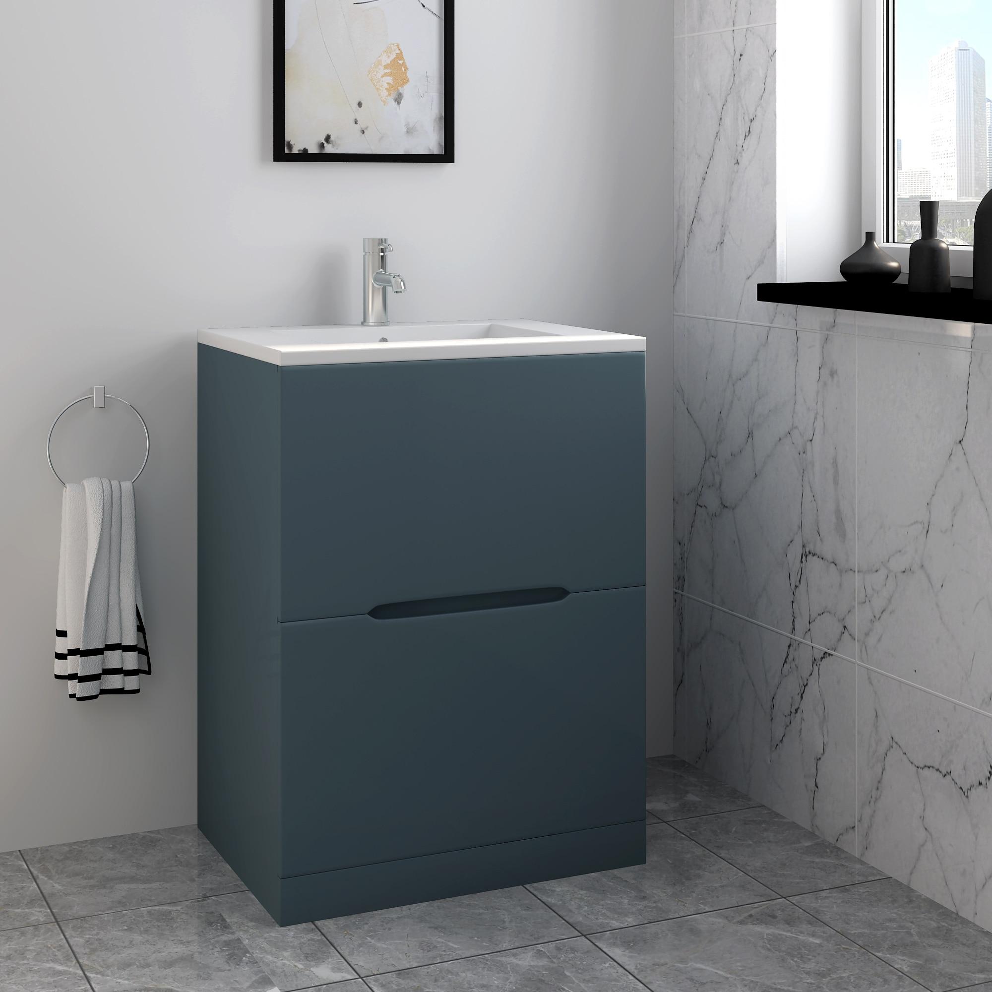 Panana, lavabo, lavabo, tocador, mueble, cerámica, lavable, Base de mano con cajón, entrega rápida