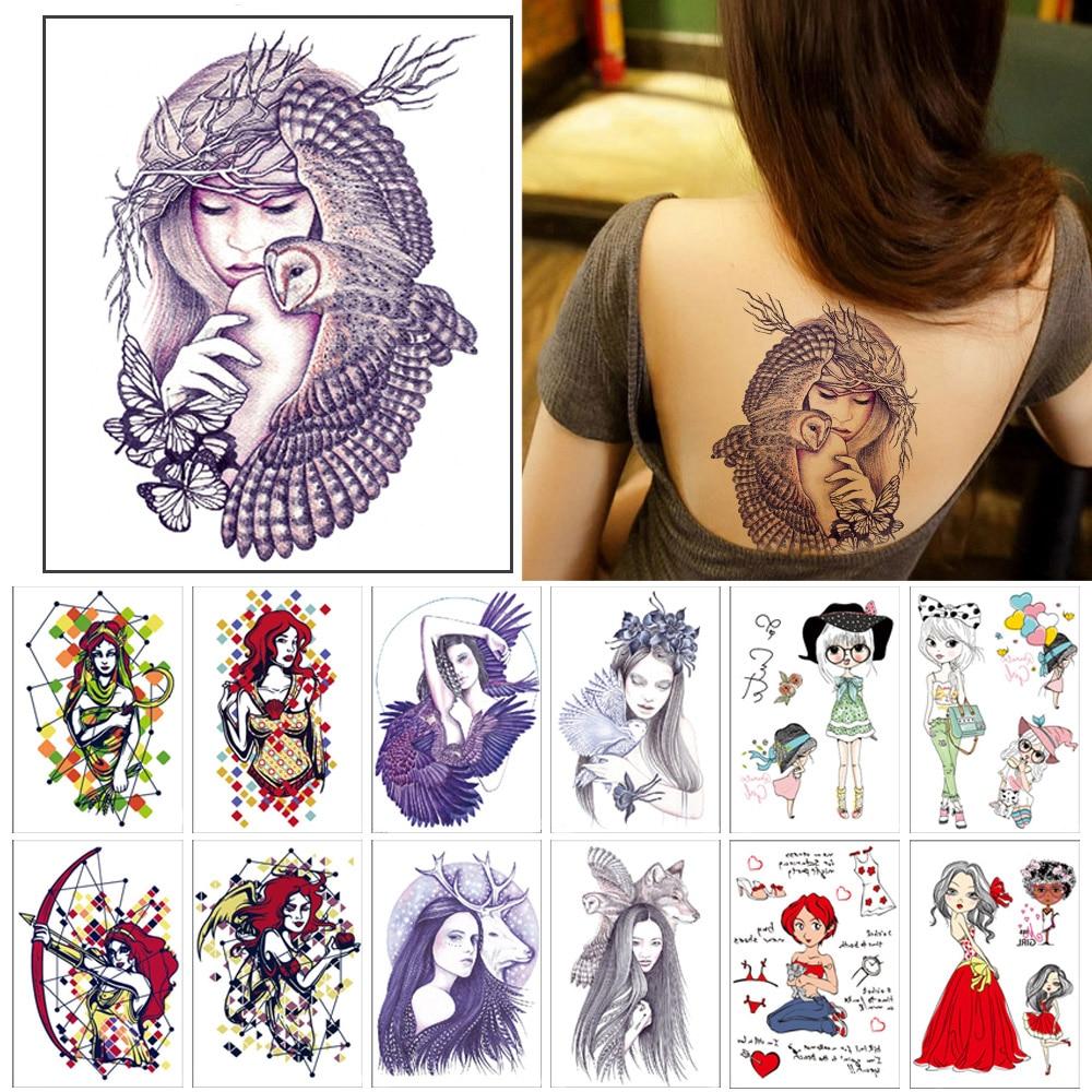Temporary tattoos women cartoon character planisphere figure Cute Fake tattoo stickers Waterproof durable temporary tattoo