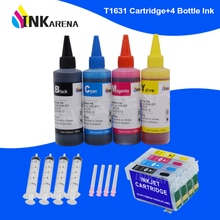 INKARENA T16 T16XL 16 чернильный картридж для принтера + 400 мл чернильные чернила для Epson WorkForce WF2630 WF2650 WF2660 WF2750 WF2760 принтеры