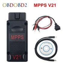 MPPS V21 Interface de réglage de puces   Auto, MPPS V16 pour EDC16 EDC17 MPPS 16, câble de Remap, plusieurs langues disponibles, livraison gratuite